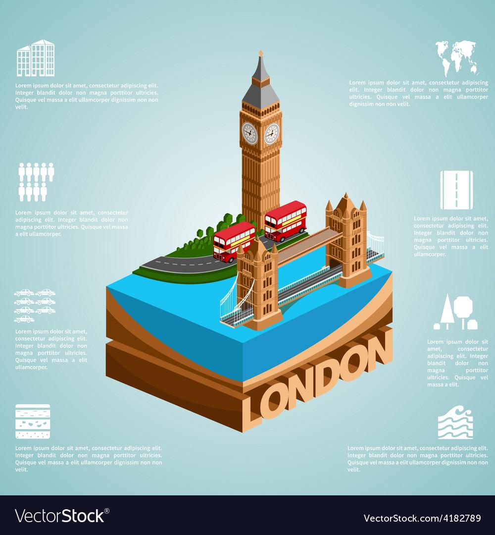 Isometry city london vector | Price: 1 Credit (USD $1)