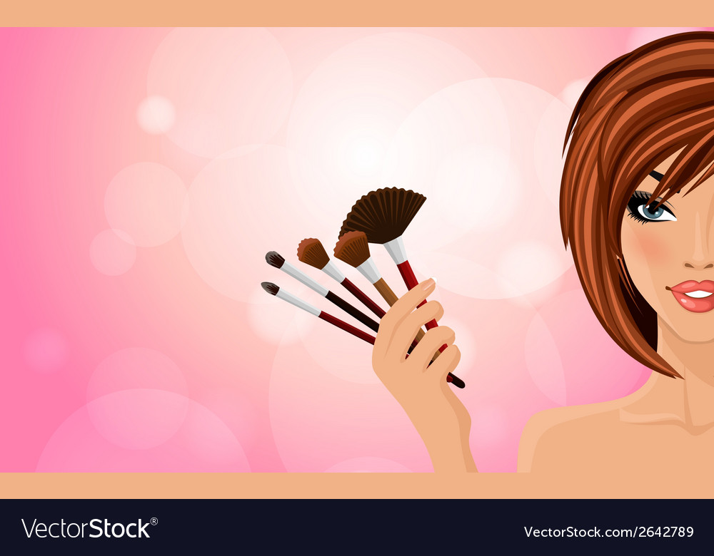 Make up background vector | Price: 1 Credit (USD $1)