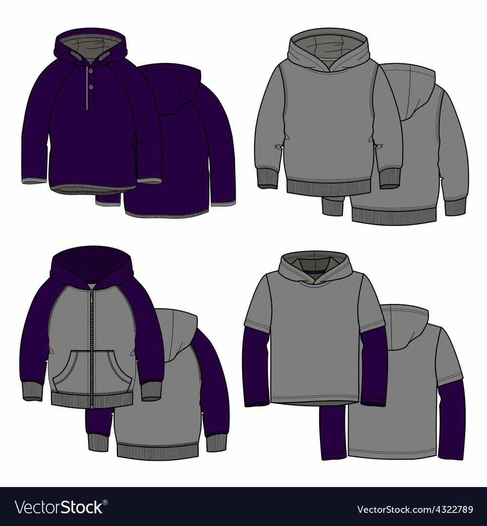 Purple hoodies vector | Price: 1 Credit (USD $1)