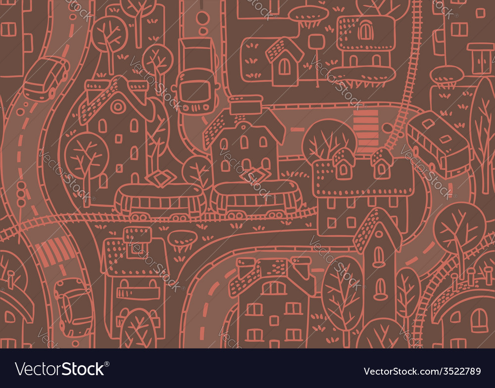Road seamless pattern vector | Price: 1 Credit (USD $1)