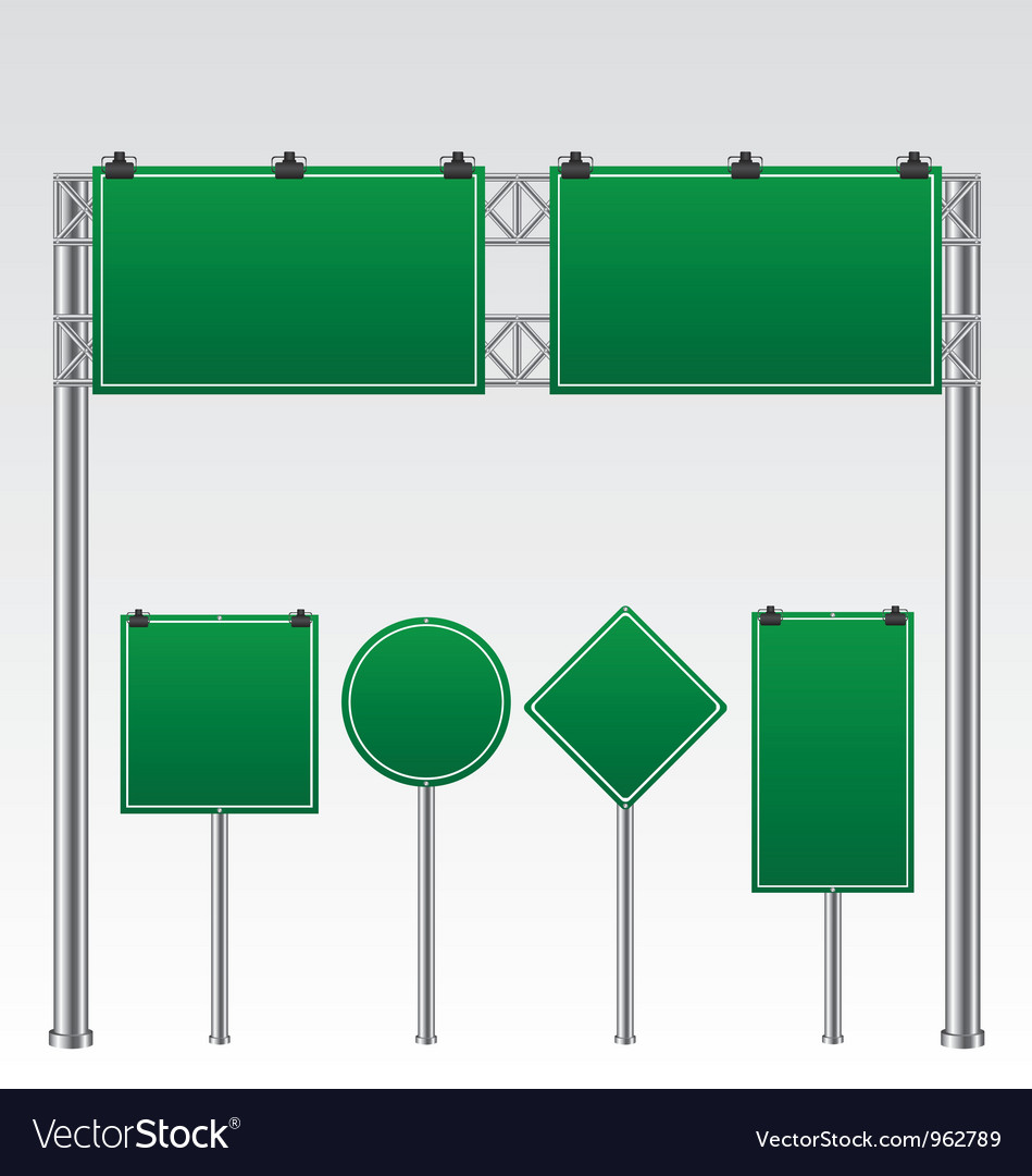 Road sign green vector | Price: 1 Credit (USD $1)