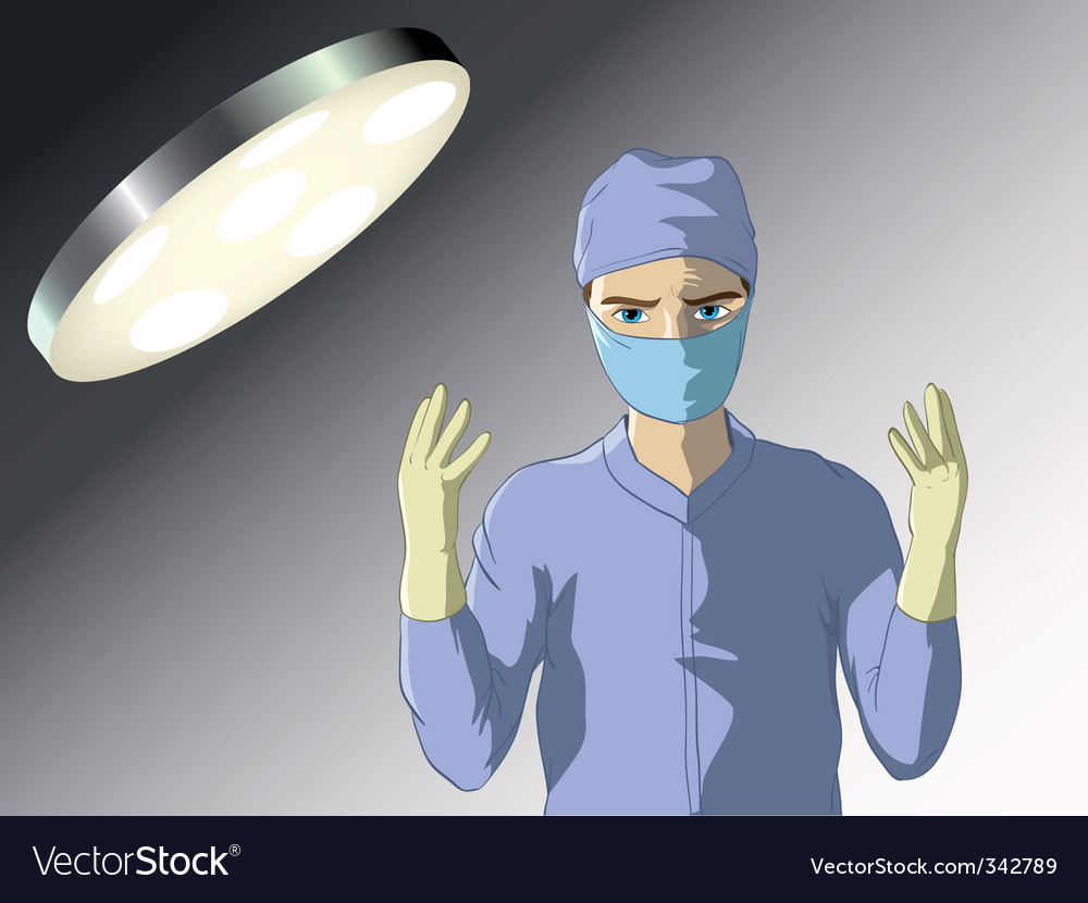Surgeon prepared for operation vector | Price: 3 Credit (USD $3)
