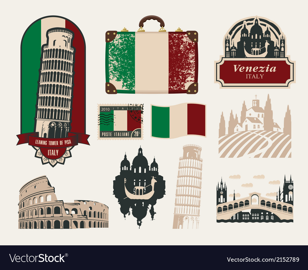 Trips to italy vector | Price: 1 Credit (USD $1)