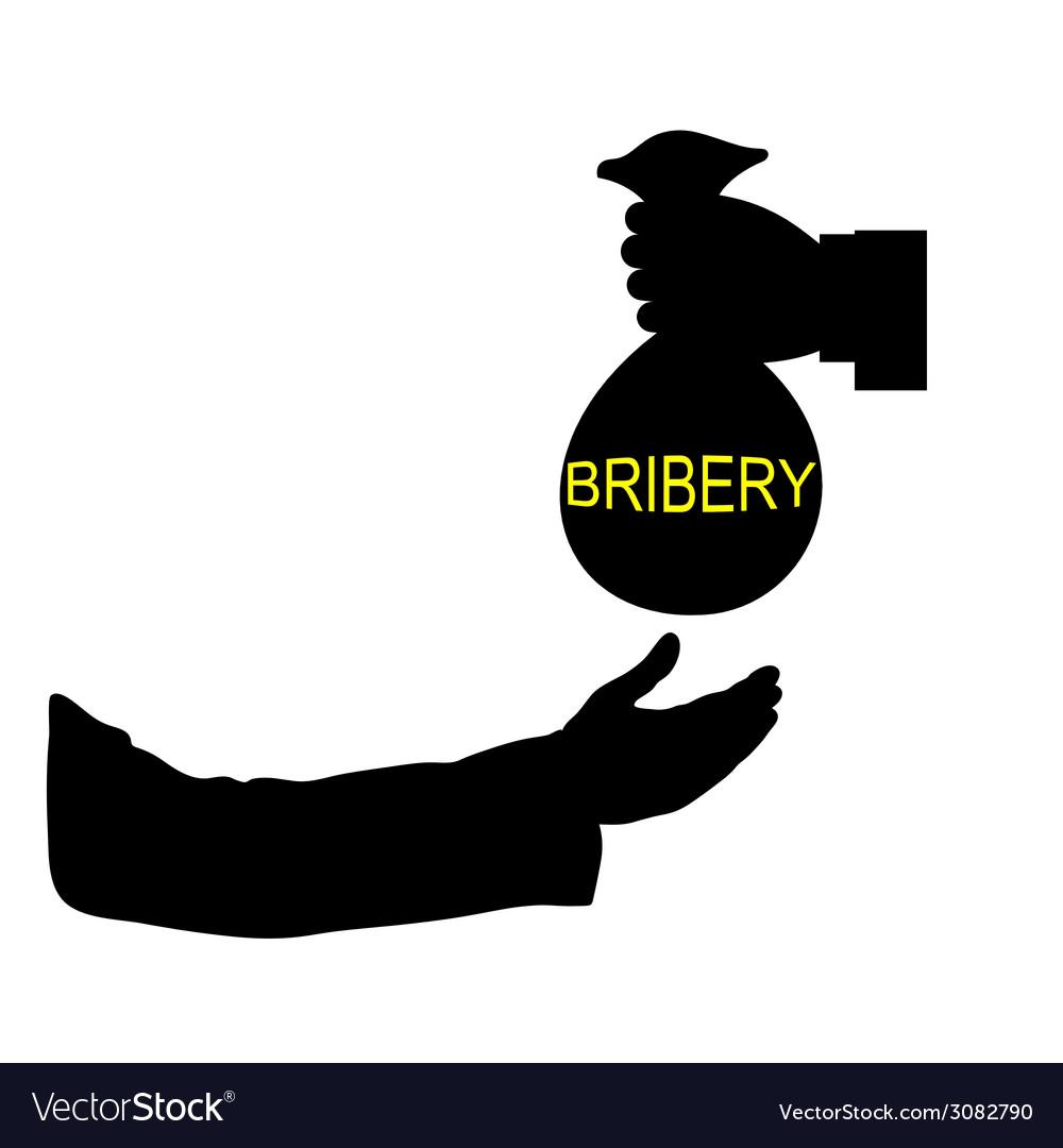 Bribery black vector   Price: 1 Credit (USD $1)