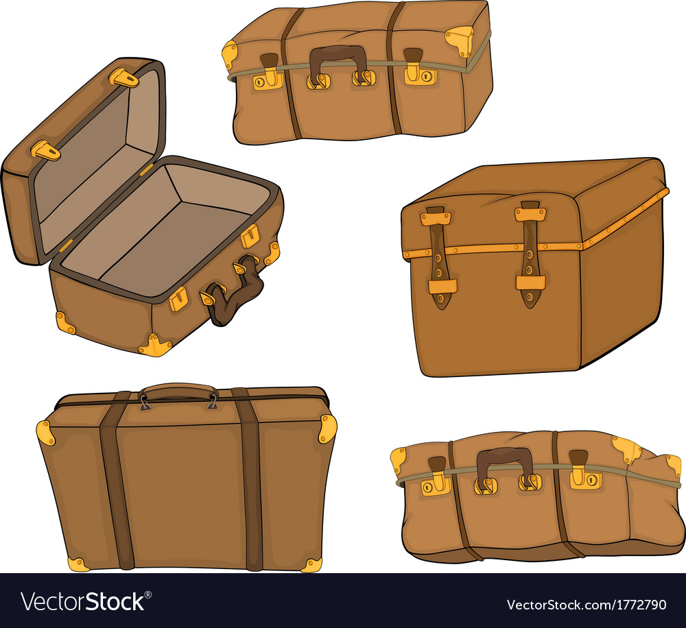 The complete set of old suitcases vector | Price: 1 Credit (USD $1)