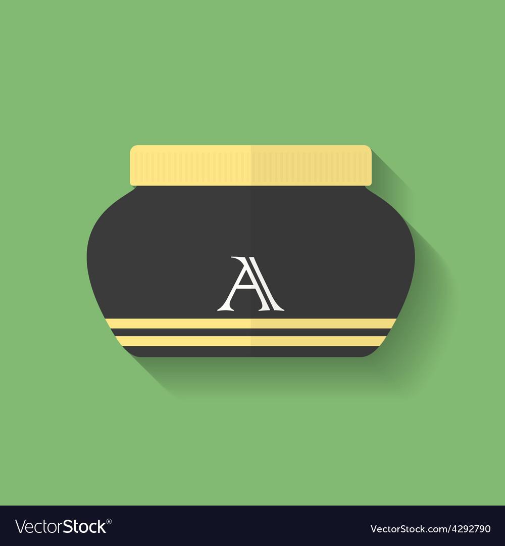 Cosmetic cream icon flat style vector | Price: 1 Credit (USD $1)