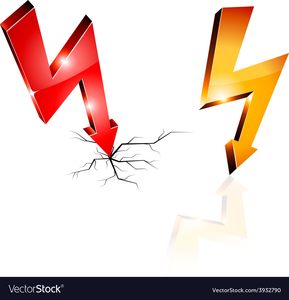 Electricity warning symbols vector | Price: 1 Credit (USD $1)