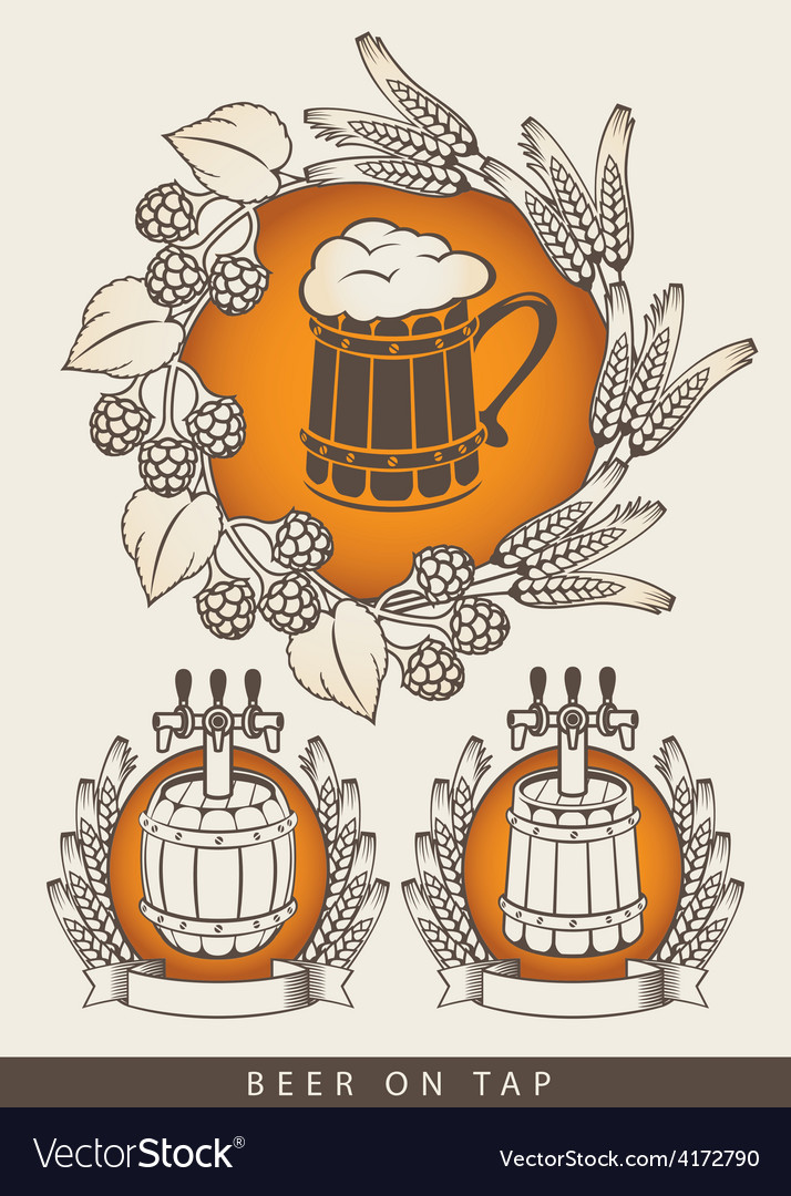 Emblem for beers vector | Price: 3 Credit (USD $3)