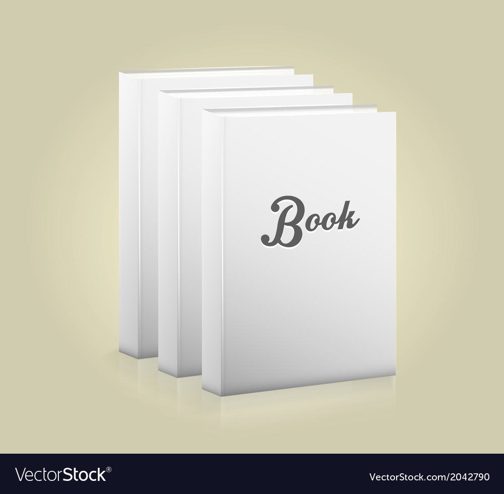 Front view of blank book vector | Price: 1 Credit (USD $1)