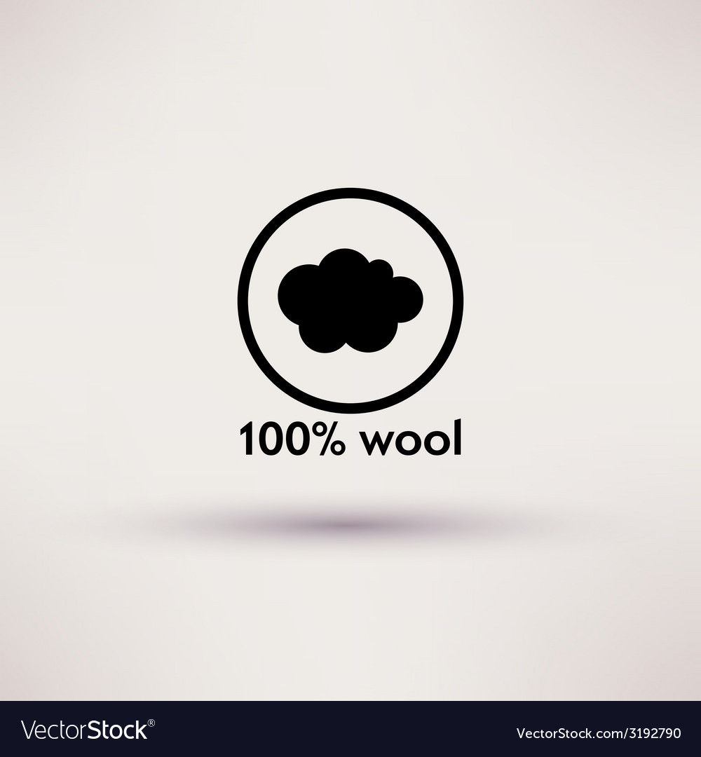 Icon of 100 wool isolated vector | Price: 1 Credit (USD $1)