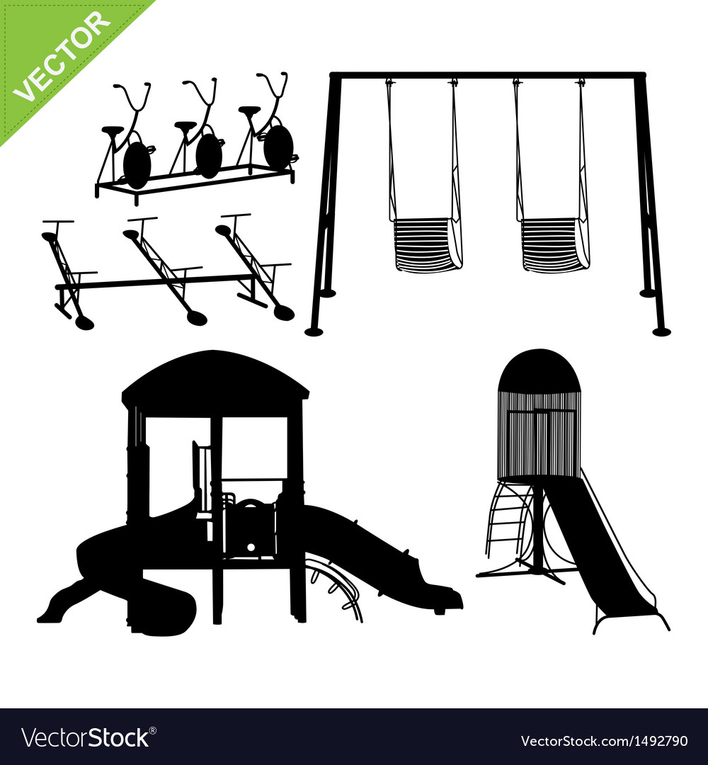 Playground silhouettes vector | Price: 1 Credit (USD $1)