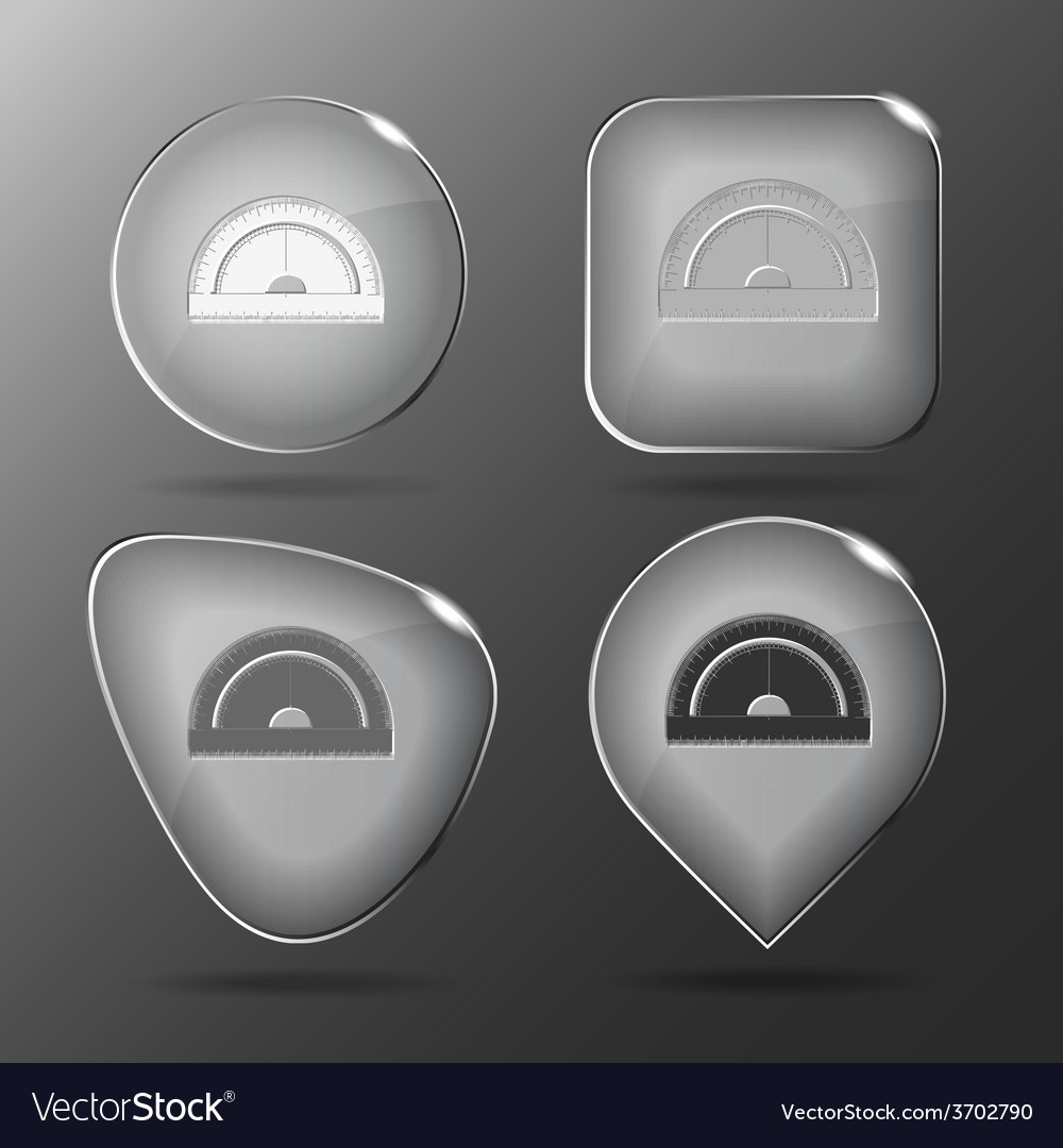 Protractor glass buttons vector | Price: 1 Credit (USD $1)