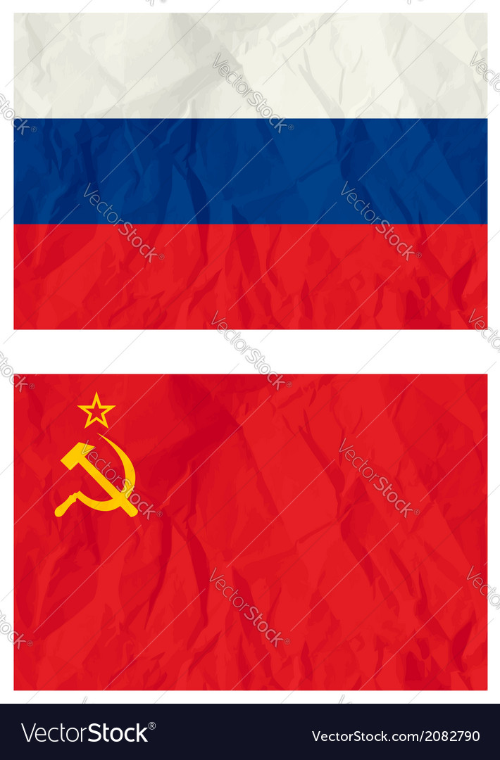 Russian flag and old ussr flag vector | Price: 1 Credit (USD $1)