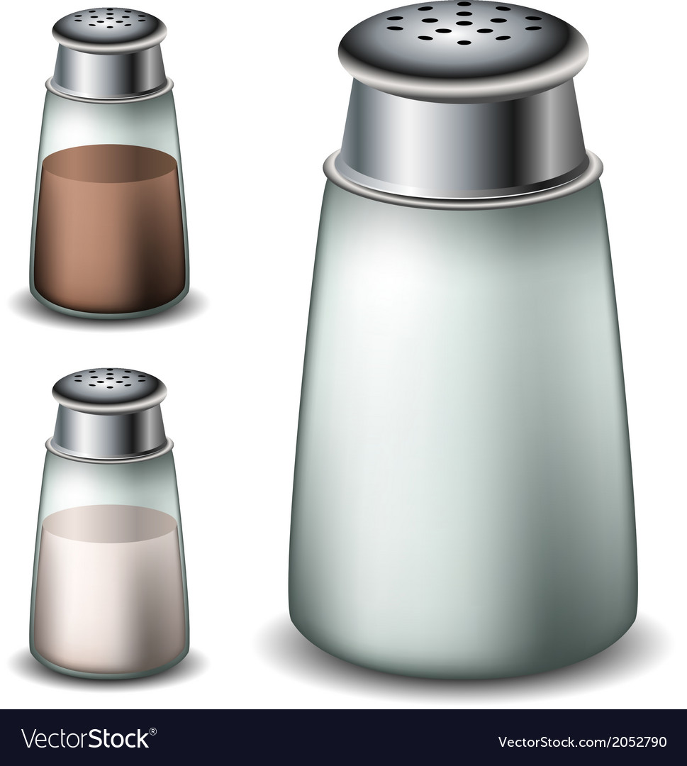 Salt and pepper shakers vector | Price: 1 Credit (USD $1)