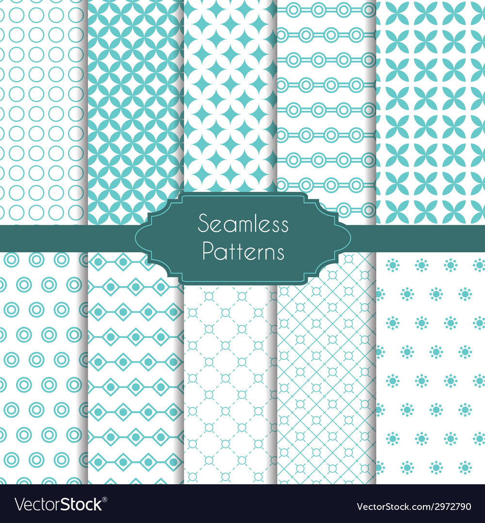 Set of geometric seamless patterns vector   Price: 1 Credit (USD $1)