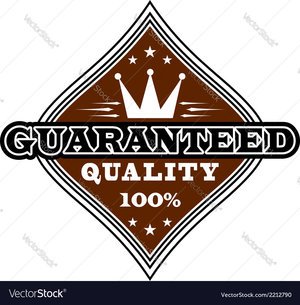 Vintage quality label vector | Price: 1 Credit (USD $1)