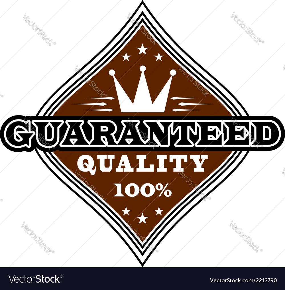 Vintage quality label vector | Price: 1 Credit (USD $1)