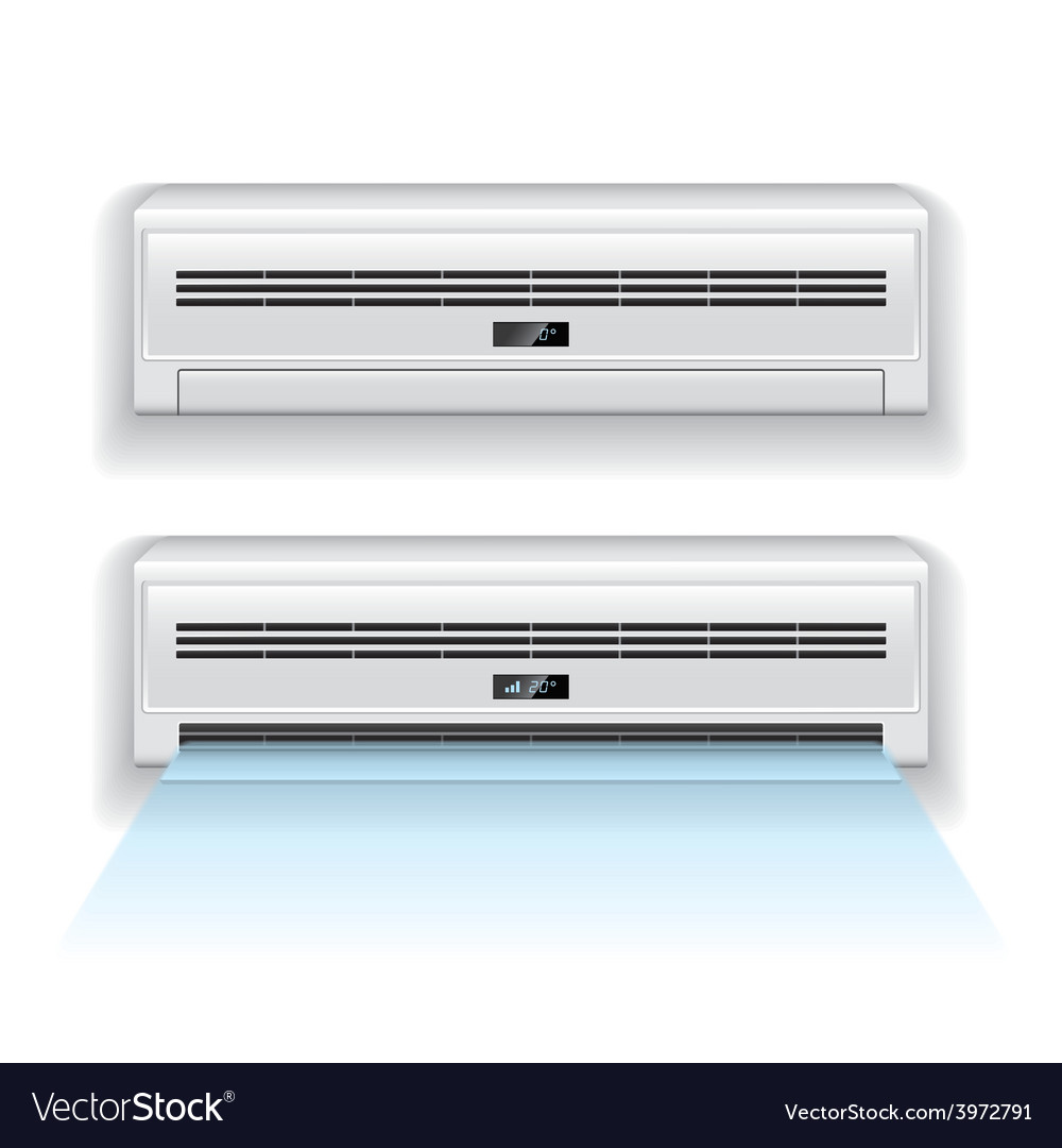 Air conditioner isolated vector | Price: 1 Credit (USD $1)
