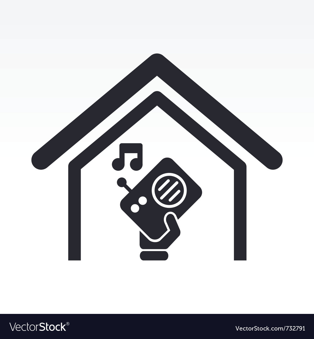 Radio house icon vector | Price: 1 Credit (USD $1)