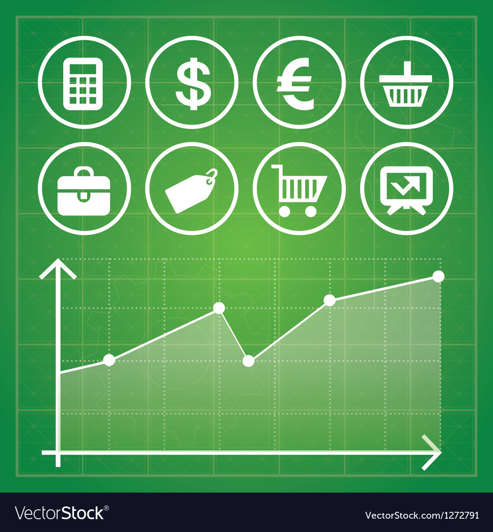 Set with finance and business elements vector | Price: 1 Credit (USD $1)