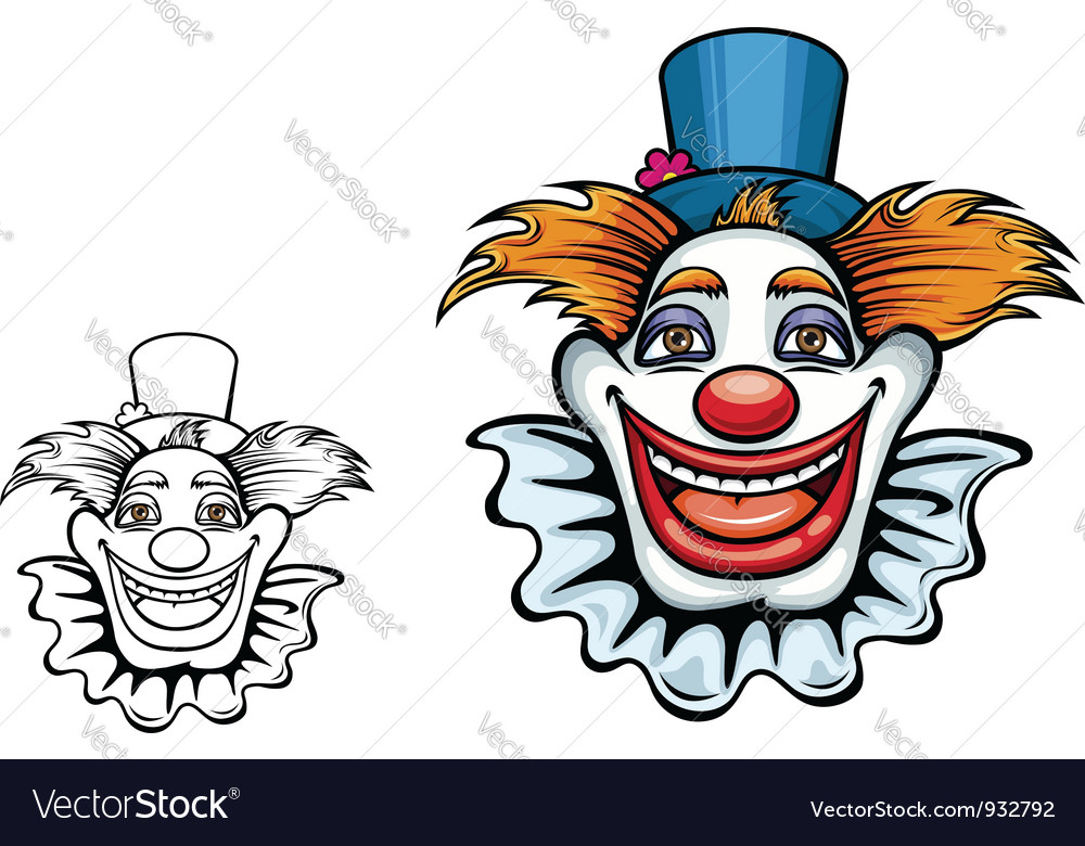 Cartoon smiling circus clown vector | Price: 3 Credit (USD $3)