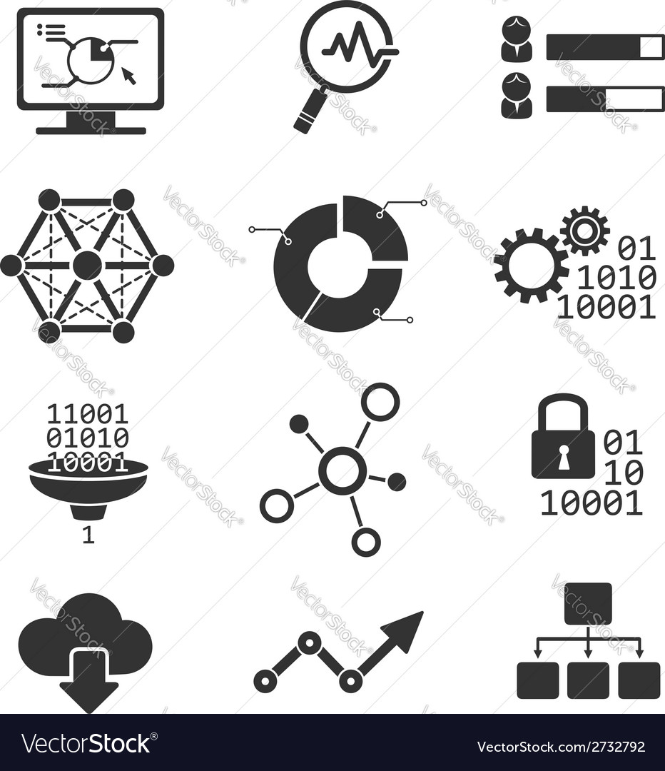 Data analytic icons vector | Price: 1 Credit (USD $1)