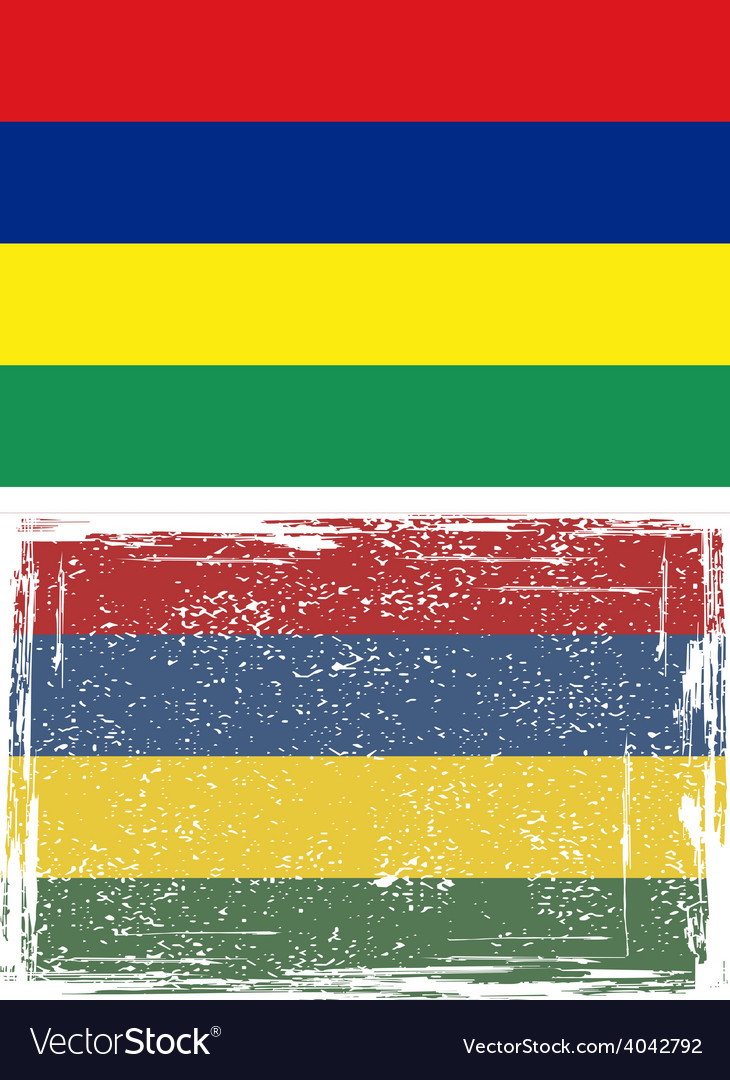 Mauritius grunge flag vector | Price: 1 Credit (USD $1)