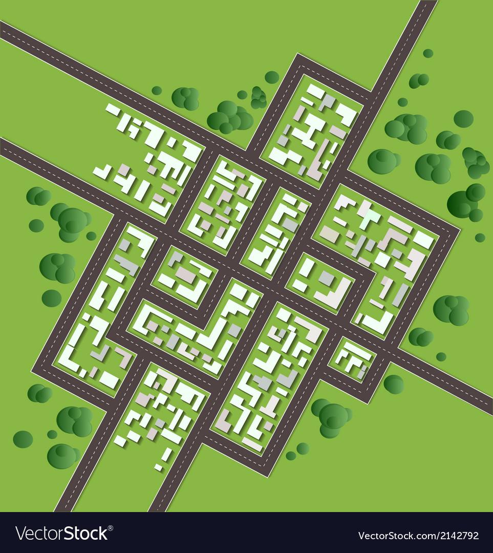 Plan city vector | Price: 1 Credit (USD $1)