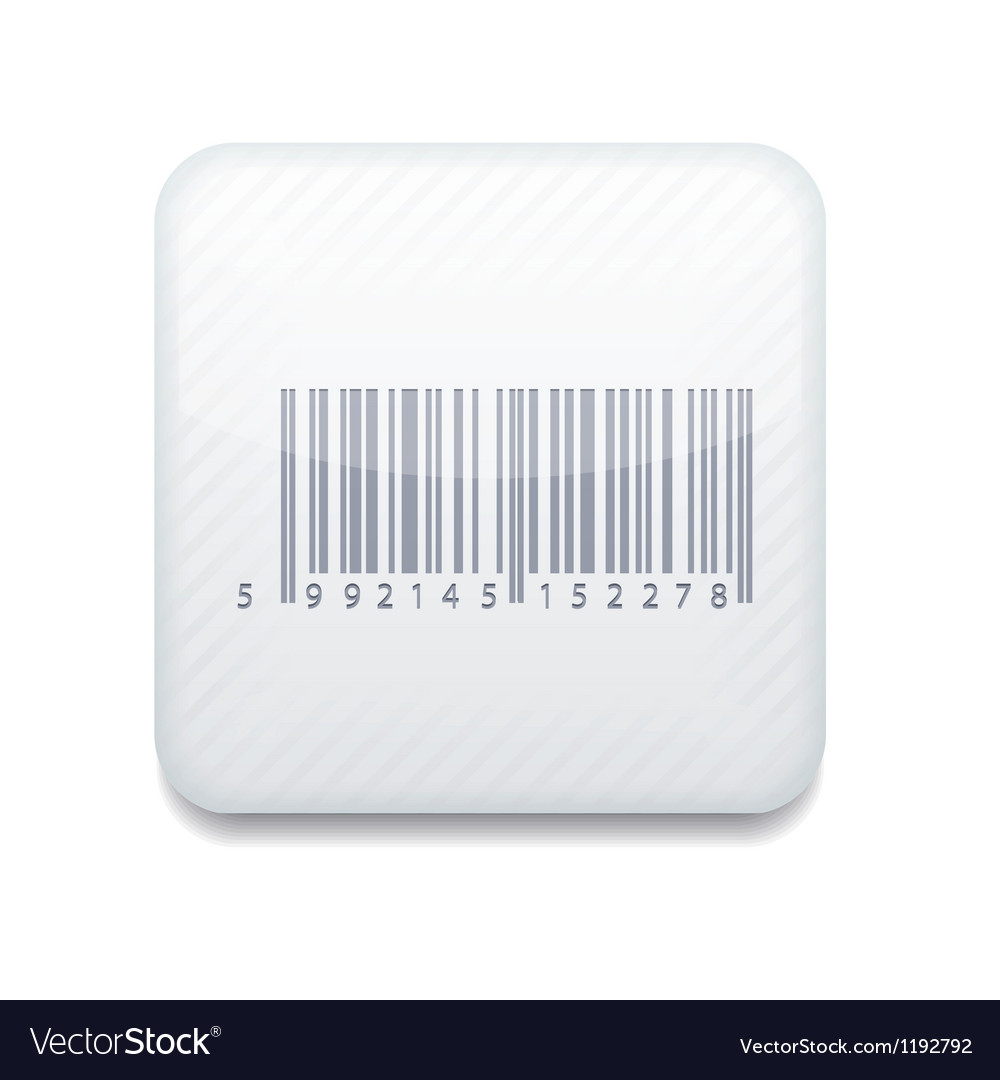 White bar code icon eps10 easy to edit vector | Price: 1 Credit (USD $1)