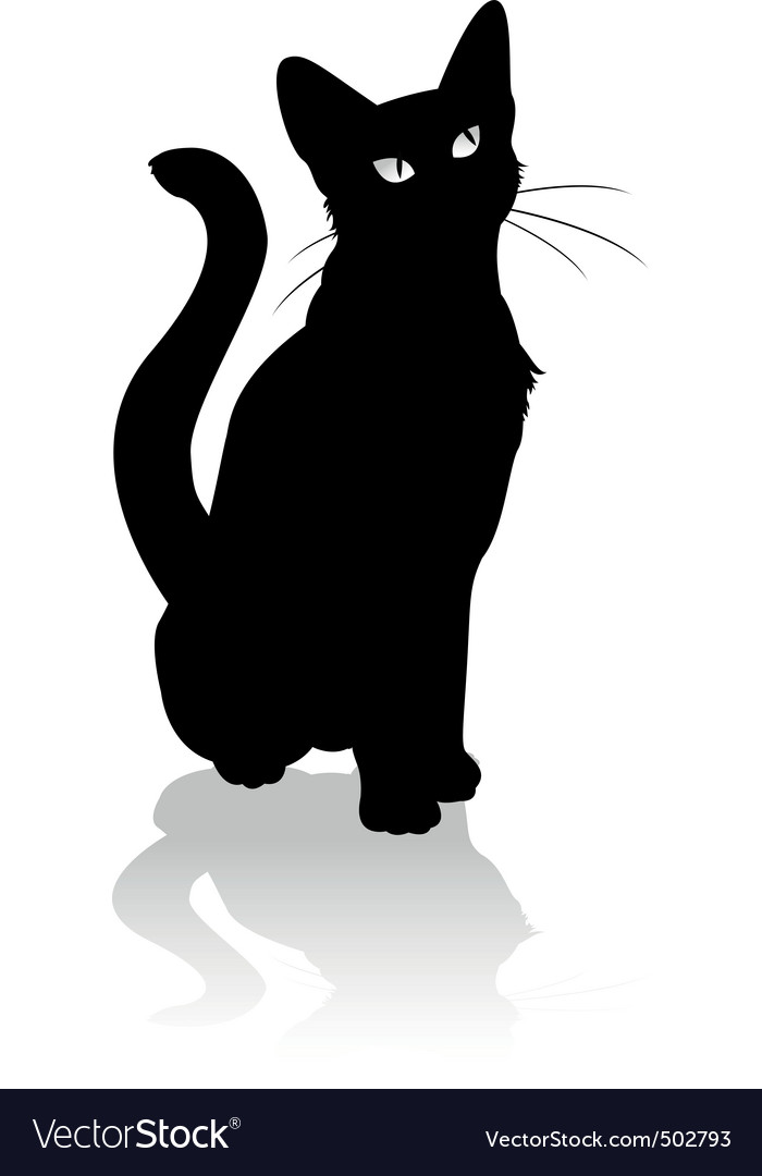 Black cat vector | Price: 1 Credit (USD $1)