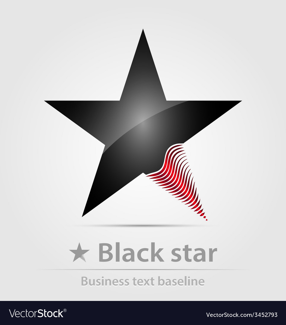 Black star business icon vector | Price: 1 Credit (USD $1)