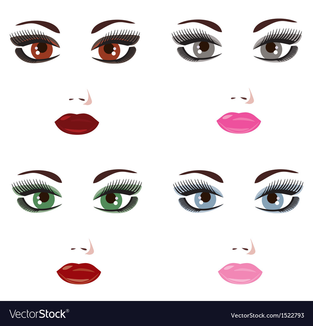 Make up vector | Price: 1 Credit (USD $1)