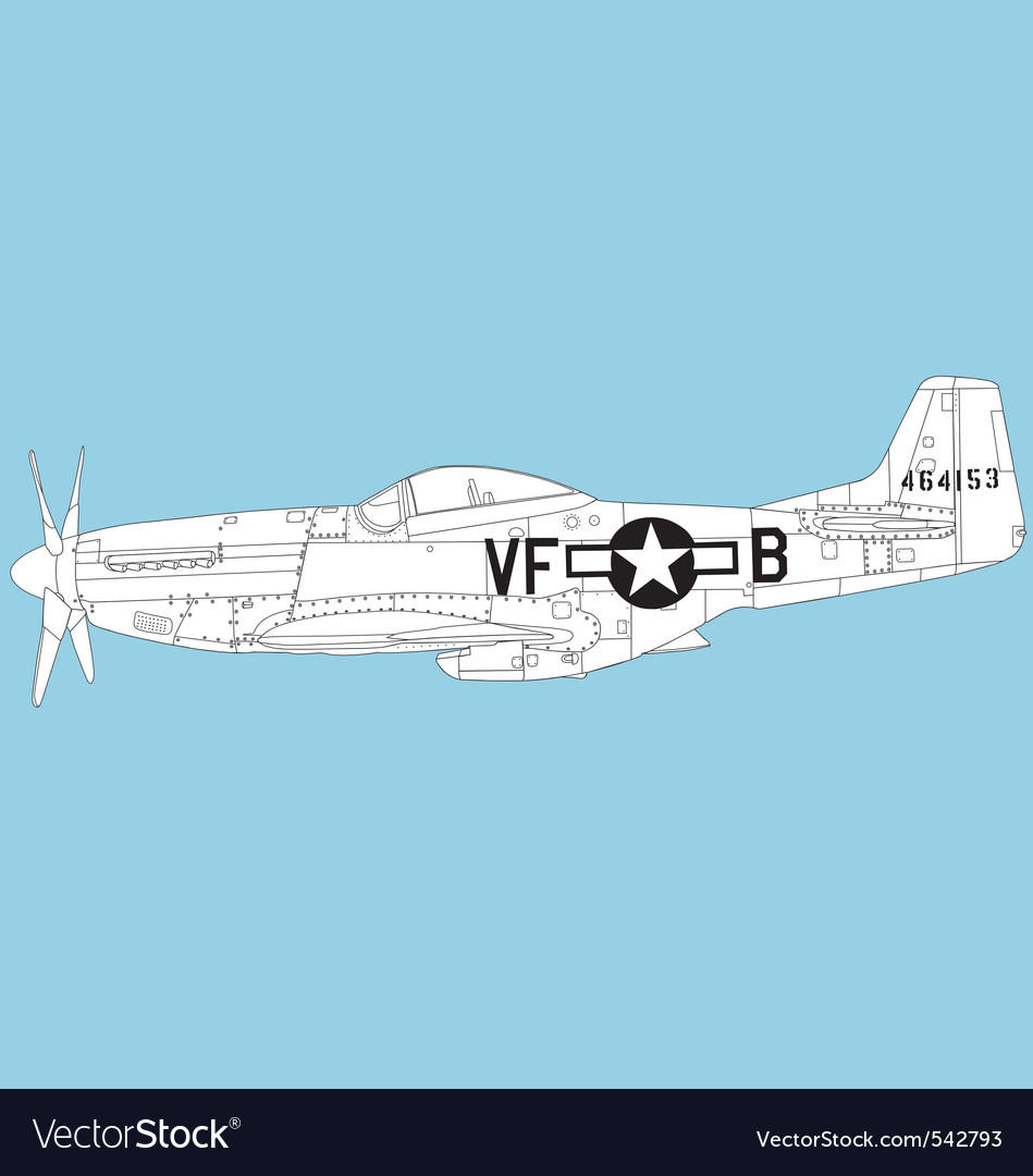 P 51 mustang vector | Price: 1 Credit (USD $1)