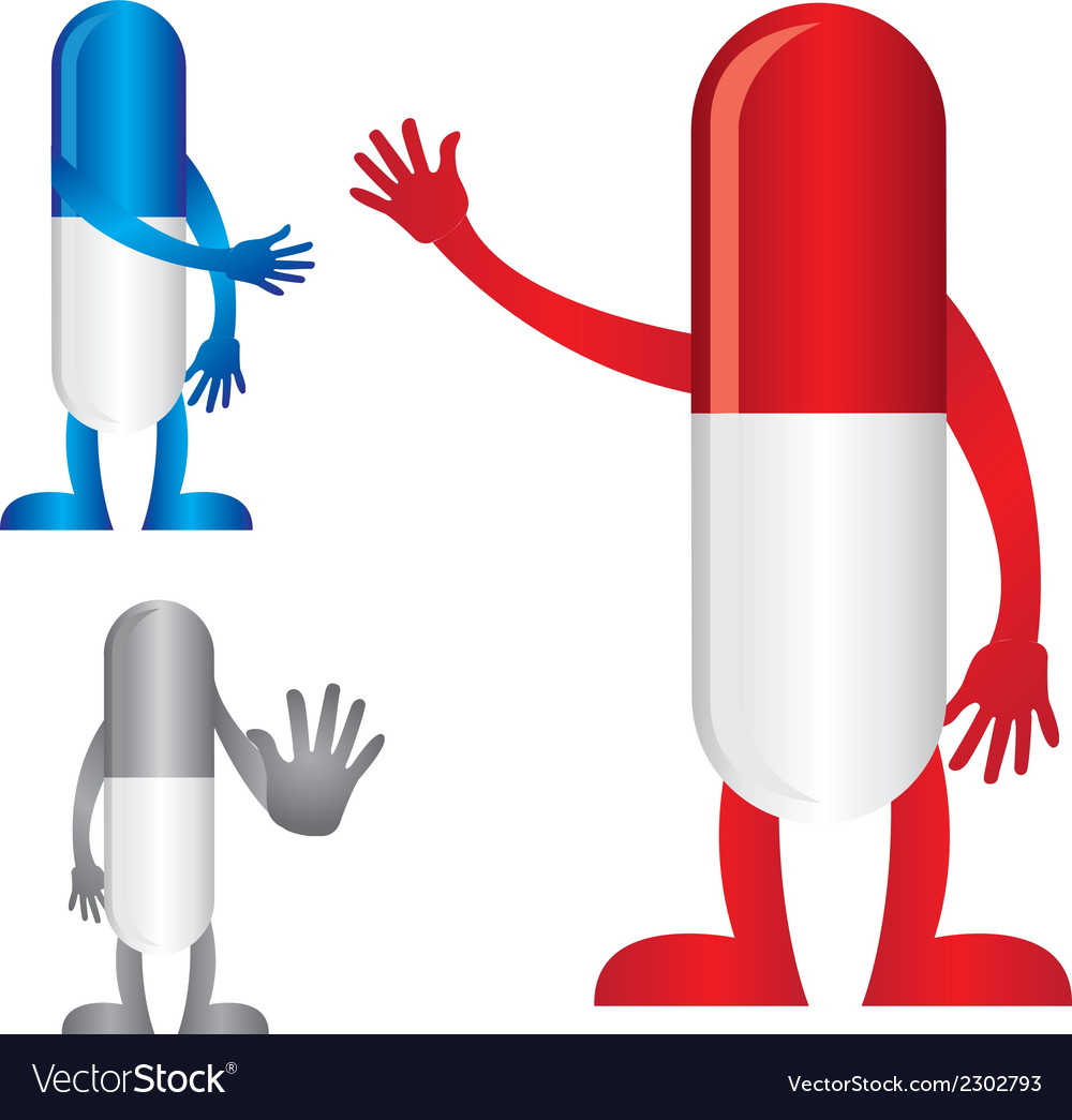 Pills with hands vector | Price: 1 Credit (USD $1)