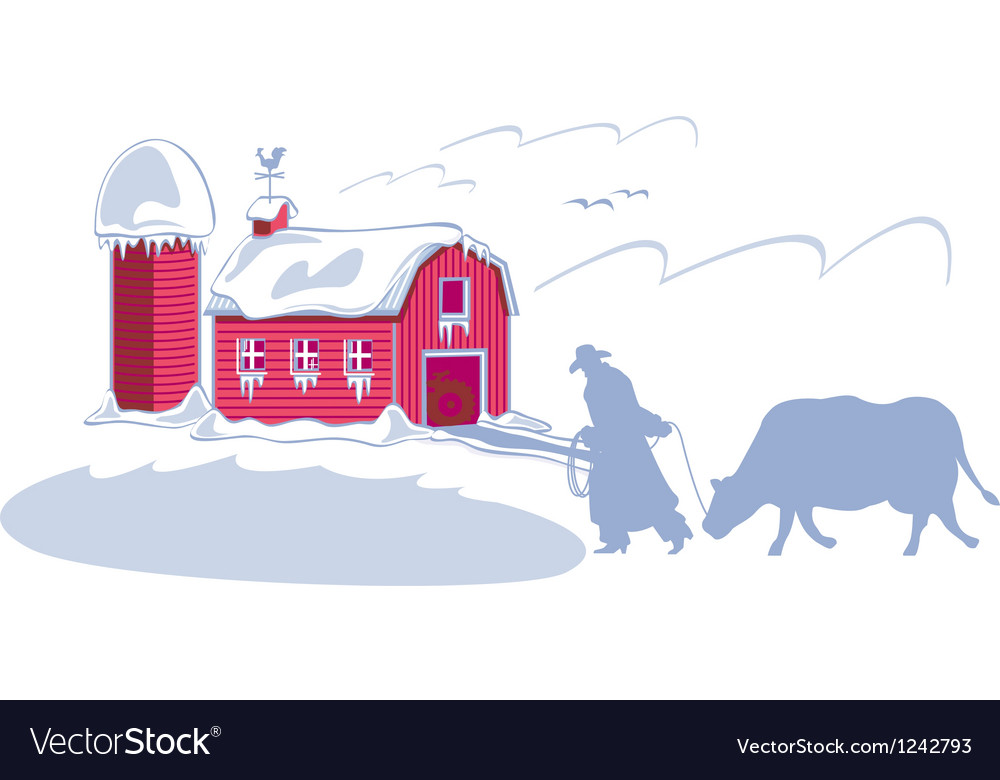 Rancher on ranch vector | Price: 1 Credit (USD $1)