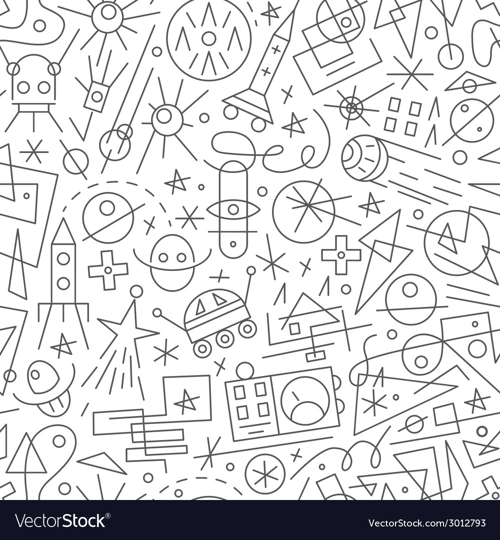 Space - seamless background vector | Price: 1 Credit (USD $1)