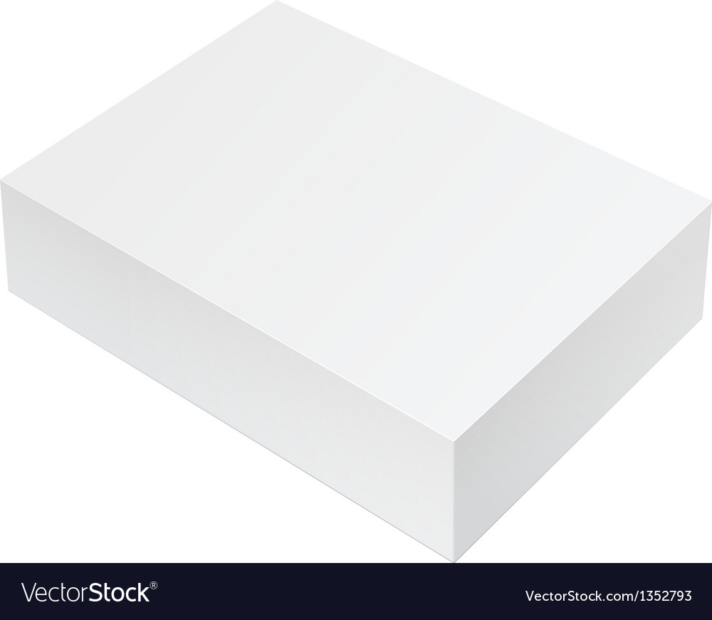 White package box for software electronic device vector | Price: 1 Credit (USD $1)