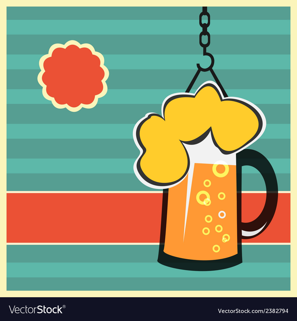 Beer concept with mug of beer vector | Price: 1 Credit (USD $1)