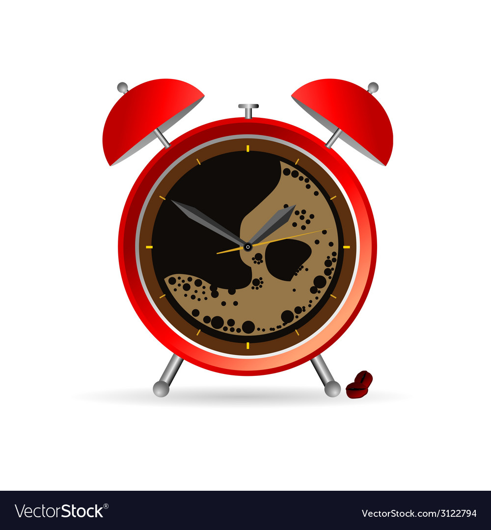 Clock and coffee part two vector | Price: 1 Credit (USD $1)