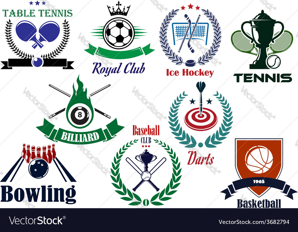 Competitive team sports heraldic emblems and logo vector | Price: 1 Credit (USD $1)