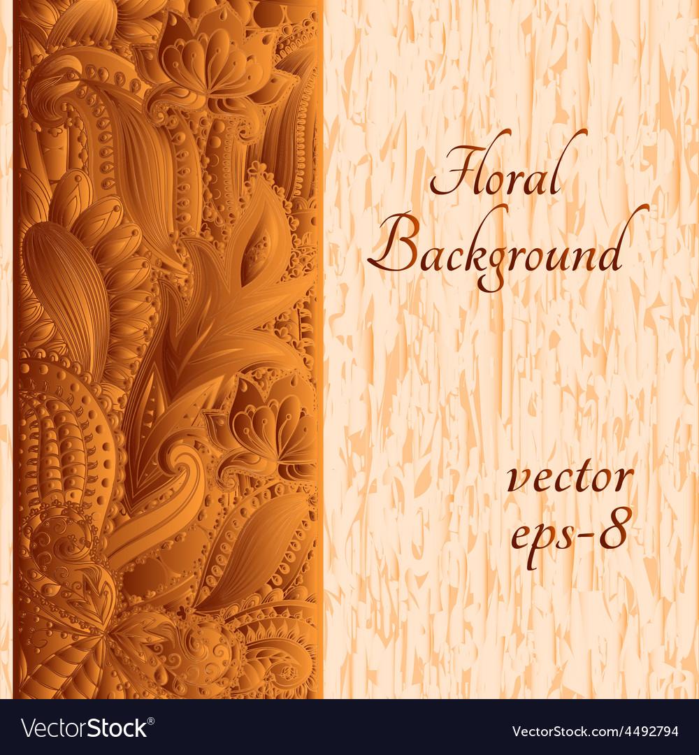 Ethnic ornament invitation card vector   Price: 1 Credit (USD $1)