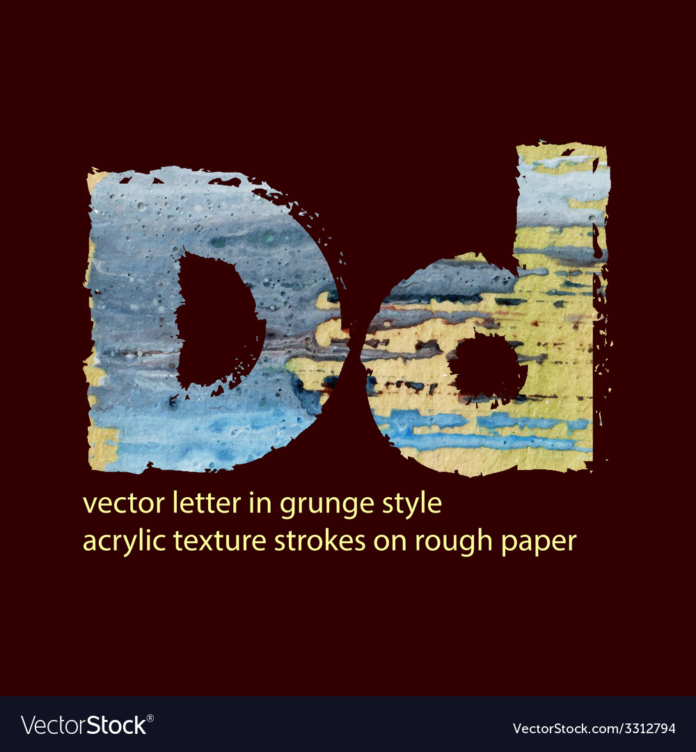 Grungy letter d vector | Price: 1 Credit (USD $1)