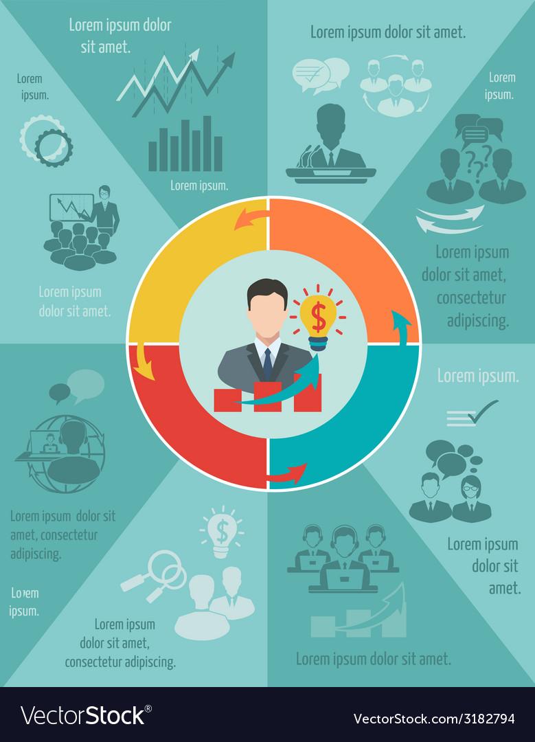 Meeting infographic set vector | Price: 1 Credit (USD $1)