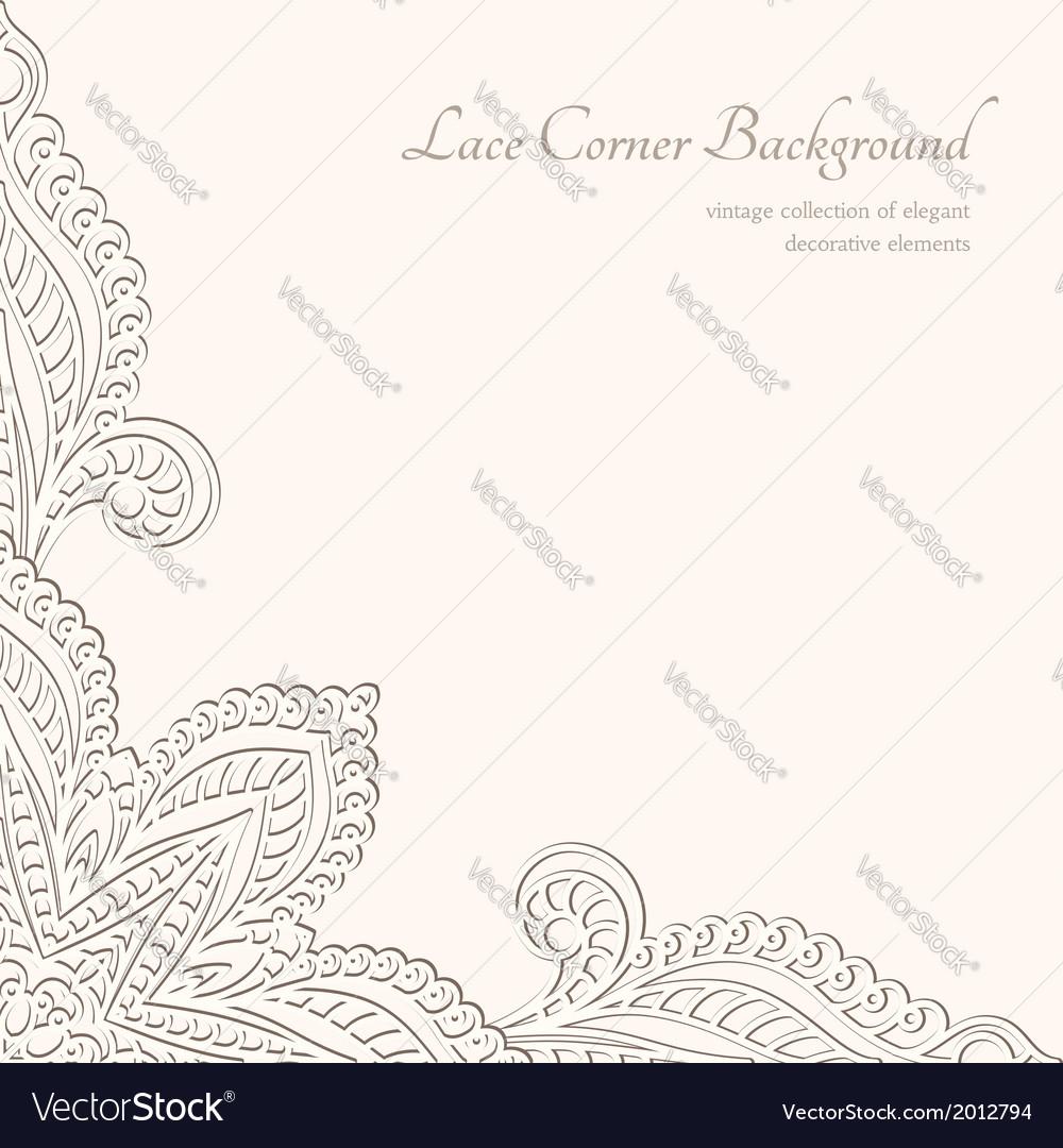 Vintage lacy corner ornament vector | Price: 1 Credit (USD $1)