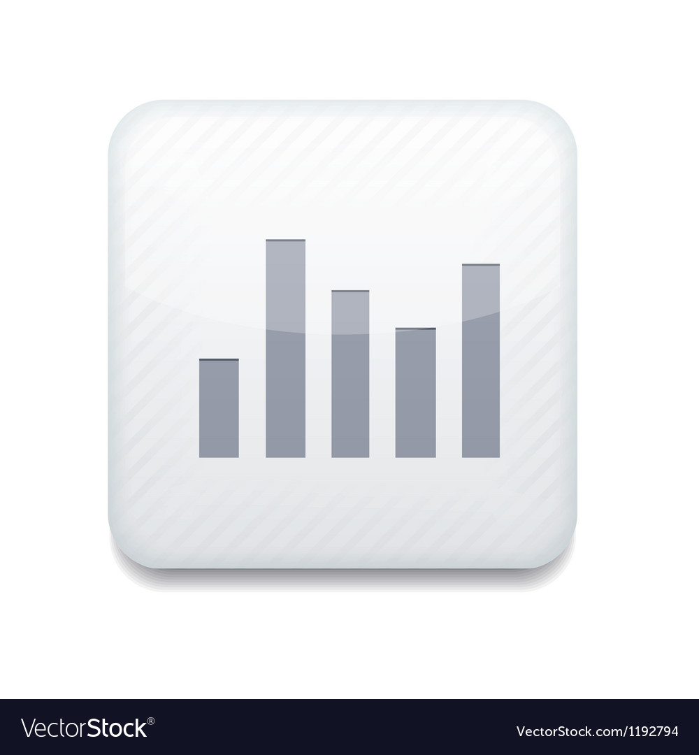 White graph icon eps10 easy to edit vector | Price: 1 Credit (USD $1)