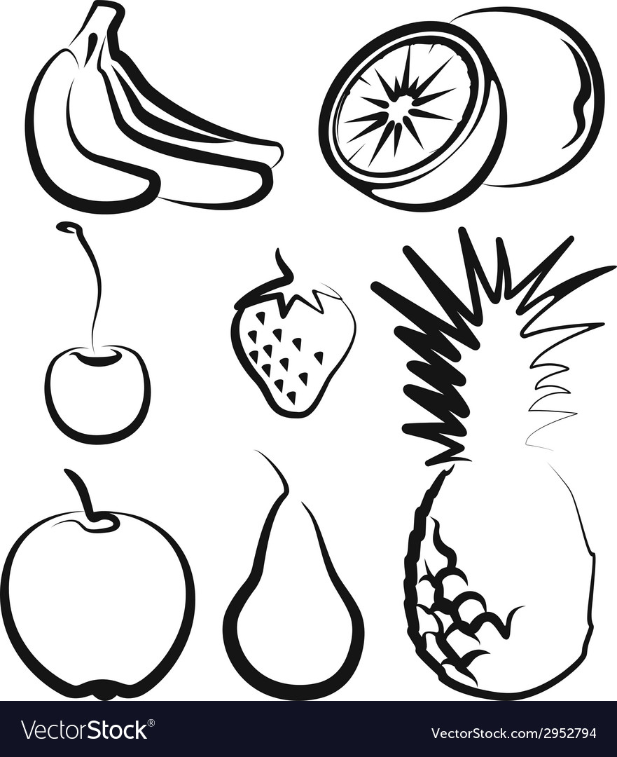 With a set of fruit vector | Price: 1 Credit (USD $1)