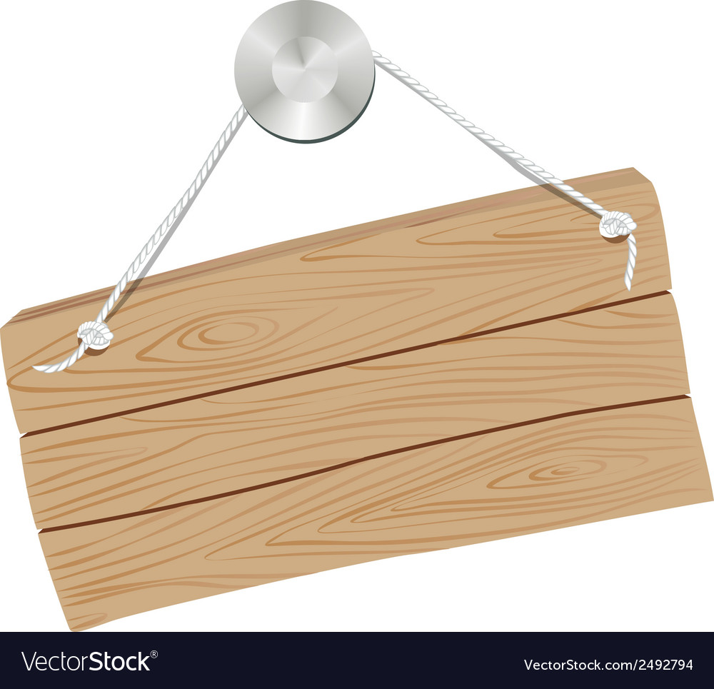 Wooden sign empty nail vector | Price: 1 Credit (USD $1)