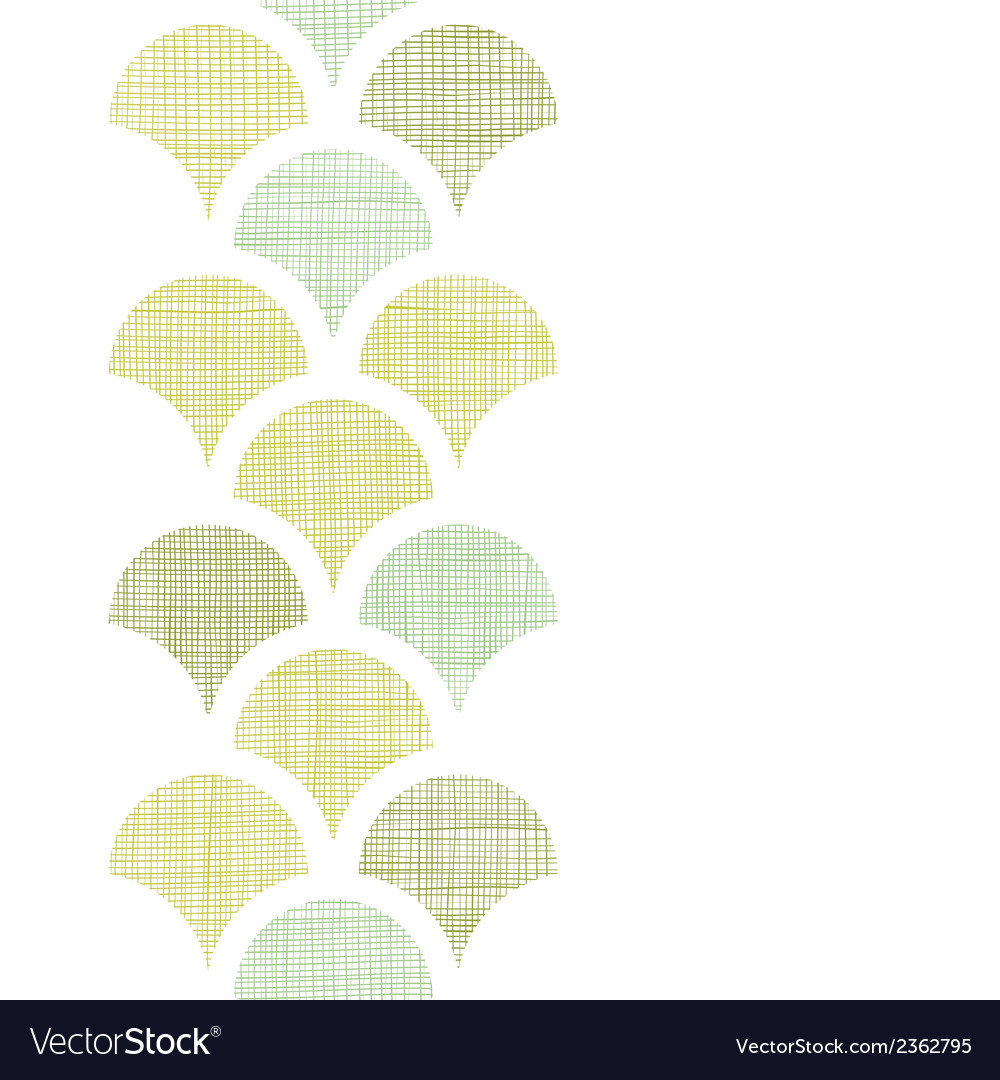Abstract textile green fishscale vertical seamless vector | Price: 1 Credit (USD $1)