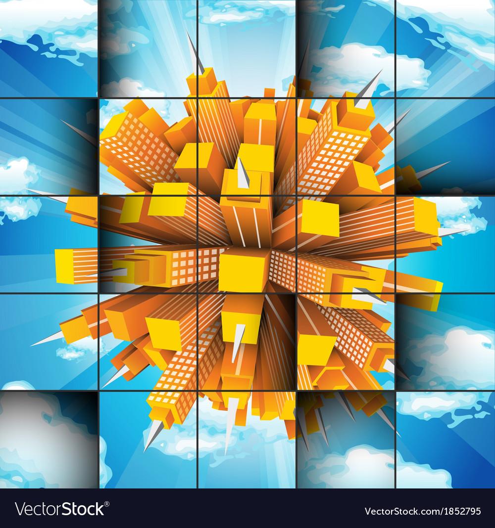 Buildings vector | Price: 1 Credit (USD $1)
