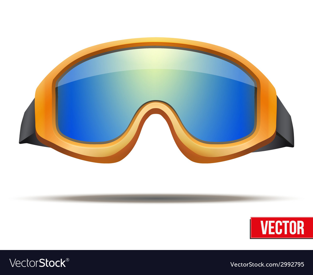 Classic orange snowboard ski goggles with colorful vector | Price: 1 Credit (USD $1)